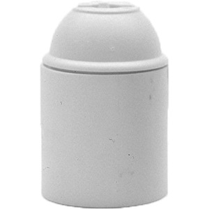 Lampenfassung 110/06 Kunststoff E27 Fassung glatt weiß