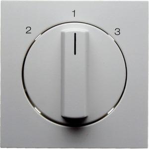 Zentralstück mit Drehknopf für 3-Stufenschalter S.1/B.3/B.7 Glas weiß