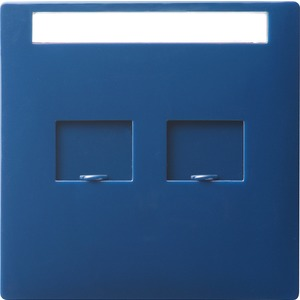 Abdeckung Modular Jack beschriftbar für S-Color blau