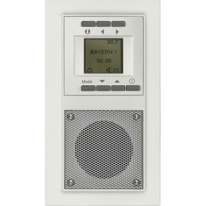 DELTA miro Unterputz-Radio titanweiß 230V/