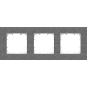 3-fach Rahmen DELTA miro carbon-metallic 232x90mm