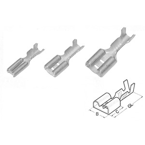 Flachsteckhülse mit Kabelstopp 0,5-1,25 mm / 2,8x0,5 mm