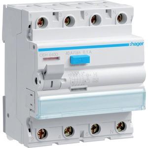 Fehlerstrom-Schutzschalter 4-polig 40 A 100 mA Typ HI