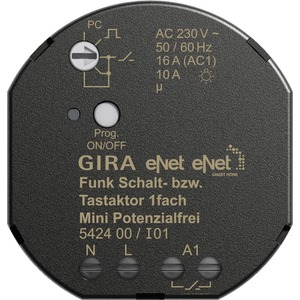 eNet Funk-Schalt-/Tastaktor 1-fach Mini Potentialfrei