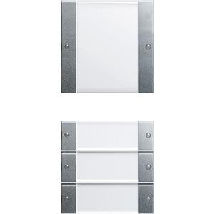 Wippenset 4-fach beschriftbar System 55 Klar Aluminium