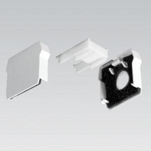 Stirnwand für Tragschiene für DUS IP 60 weiß