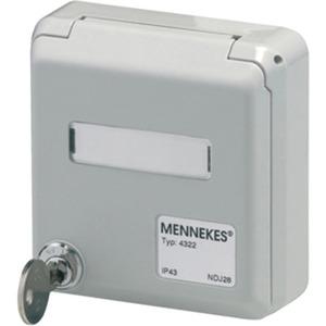 UP CEPEX-Leergehäuse lichtgrau für RJ45 Datendose N136104070 IP44