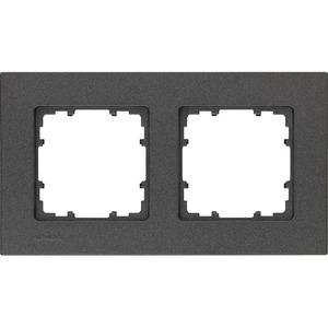 2-fach Rahmen DELTA miro carbon-metallic 161x90mm