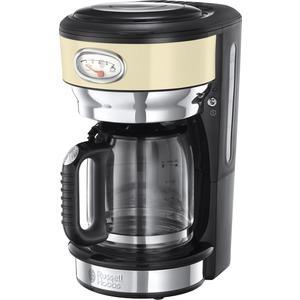 Kaffeemaschine Retro Vintage Cream Glas 21702-56