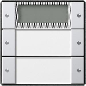 Wippenset 2-fach Plus beschriftbar für E22 Klar Aluminium