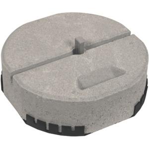 Betonsockel Ø 337 mm mit Keiltechnik und Unterlegplatte