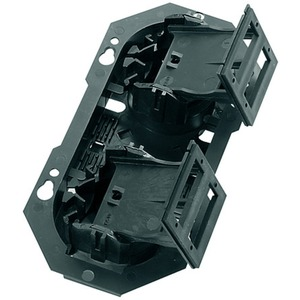 Gehäuse mit 1 Kupplungsplatte für 2 SC Duplex Kupplungen oder 2 LC Quad-Kupplungen