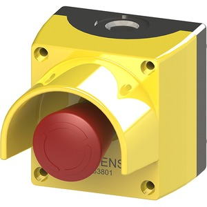 Gehäuse für 22mm ProG.Metallausf. 1 Befehlsstelle gelb mit Schutzkrag