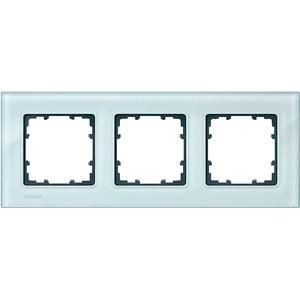 3-fach Glas Rahmen DELTA miro Glas kristallgrün 232x90mm