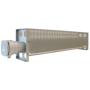 Ex-Rippenrohrheizgerät R2 lackiert mit Schutzkorb 2500W 230V T2 L=1840 mm IP66