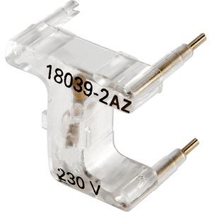 LED-Leuchteinsatz blau für Schalter VDE Wippe große 230V