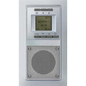 DELTA miro Unterputz-Radio aluminium-metallic 230V/