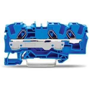 3-Leiter-Durchgangsklemme 0,5 - 6 mm² blau