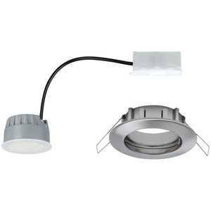 EBL Set Coin dim sat rund starr LED 1x7W 2700K 230V 51mm Eisen geb/Alu