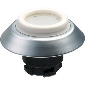 Leuchttaster weiß für Fronteinbau