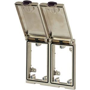 Modlink Frontplatteneinbau Rahmenmodul Metall 2-fach.