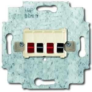 Unterputz Einsatz Lautsprecher-Anschlussdose 2-fach weiß