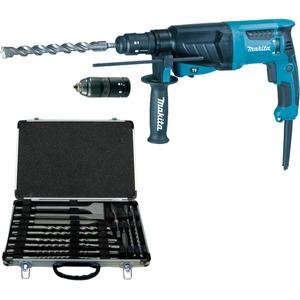 makita hr2630tx bohrhammer elektrisch mit bohrer meissel set regro. Black Bedroom Furniture Sets. Home Design Ideas