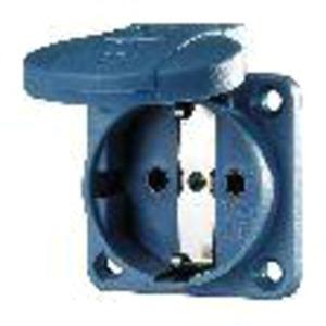 Schuko-Anbausteckdose blau 16A 2p+E 230V IP54 Schraubklemme