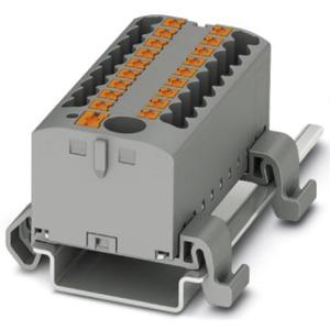 Verteilerblock waagrecht mit integrierter Einspeisung 13 x 2,5mm² rot