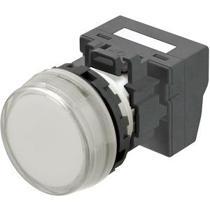 Leuchtmelder M22N Kunststoff Flach Weiss 24V Push-In Plus