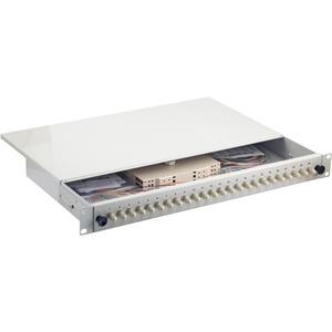 Spleißbox 24 ST / ST 50 / 125µ OM4 Pigtails abgesetzt / Kupplungen