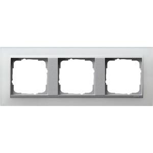 3-fach Abdeckrahmen für Aluminium Event Opak weiß