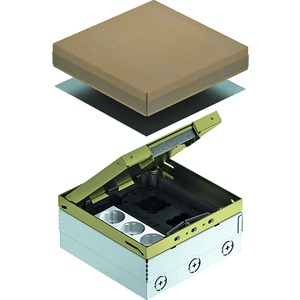Geräteeinsatz komplett mit Schutzkontaktsteckdose CuZn