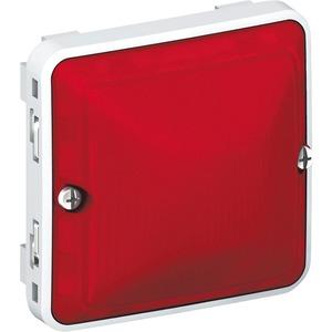 Haube rot Feuchtraum Aufputz Plexo 55 grau