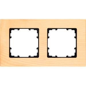 2-fach Holz Rahmen DELTA miro Holzart buche 161x90mm