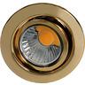 Einbaustrahler ohne Sprengring schwenkbar D 3830 gold 24 Karat vergoldet