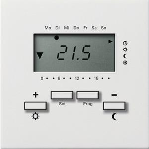 RTR 230 V mit Uhr für Flächenschalter reinweiß