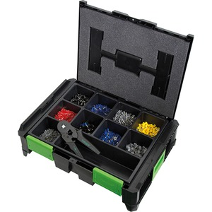 Adernendhülsen Set SYSCON und Crimpzange Box 4100 teilig