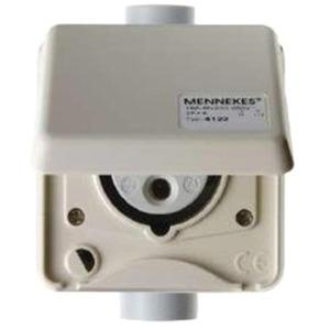 UP CEE-Wandsteckdose Cepex 16A 3p 230V 6h IP44 perlweiß