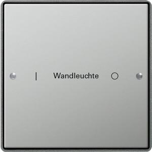 Wippenset 1-fach für E22 Edelstahl beschriftbar