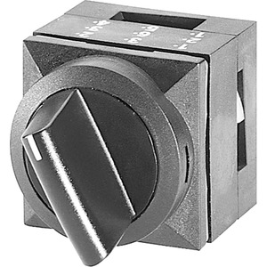 26x26mm Kunststoff quadr. Betätiger Knebel verrastend 2 Stellungen O-I