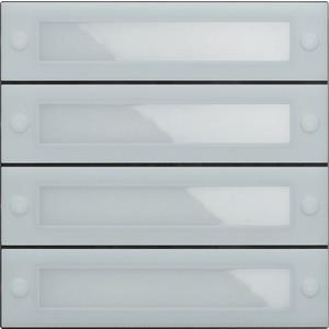 Ruftastenmodul 4-fach mit Inbetriebnahme-Tasten System 106