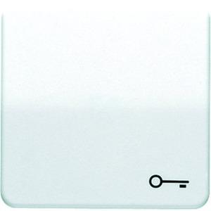 Wippe Symbol Tür für Taster weiß glänzend