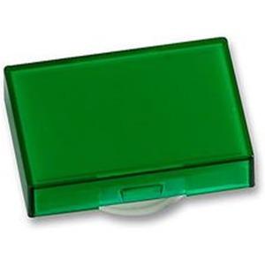 Tasterkappe beleuchtbar rechteckig für LED und Glühlampe grün