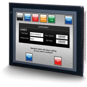 HMI - Terminal 12,1 Zoll TFT 256 Farben 2 x RS-232C 60 MB-Anwenderspeicher 24 V DC schwarz