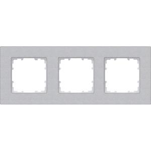 3-fach Rahmen DELTA miro aluminium-metallic 232x90mm