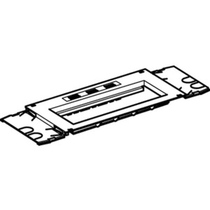 Montageplatte M45 3-fach
