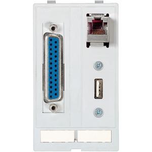 Modlink Frontplatteneinbau Datensteckereinsatz 1x Sub-D25 / RJ45 / USB