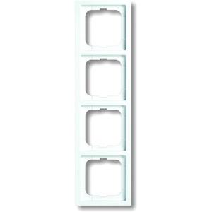 Abdeckrahmen future 4-fach Linear weiß glänzend