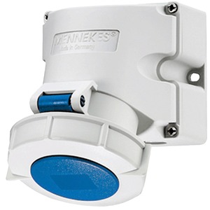 CEE-Wandsteckdose TwinCONTACT 32A 3p 230V 6h IP67